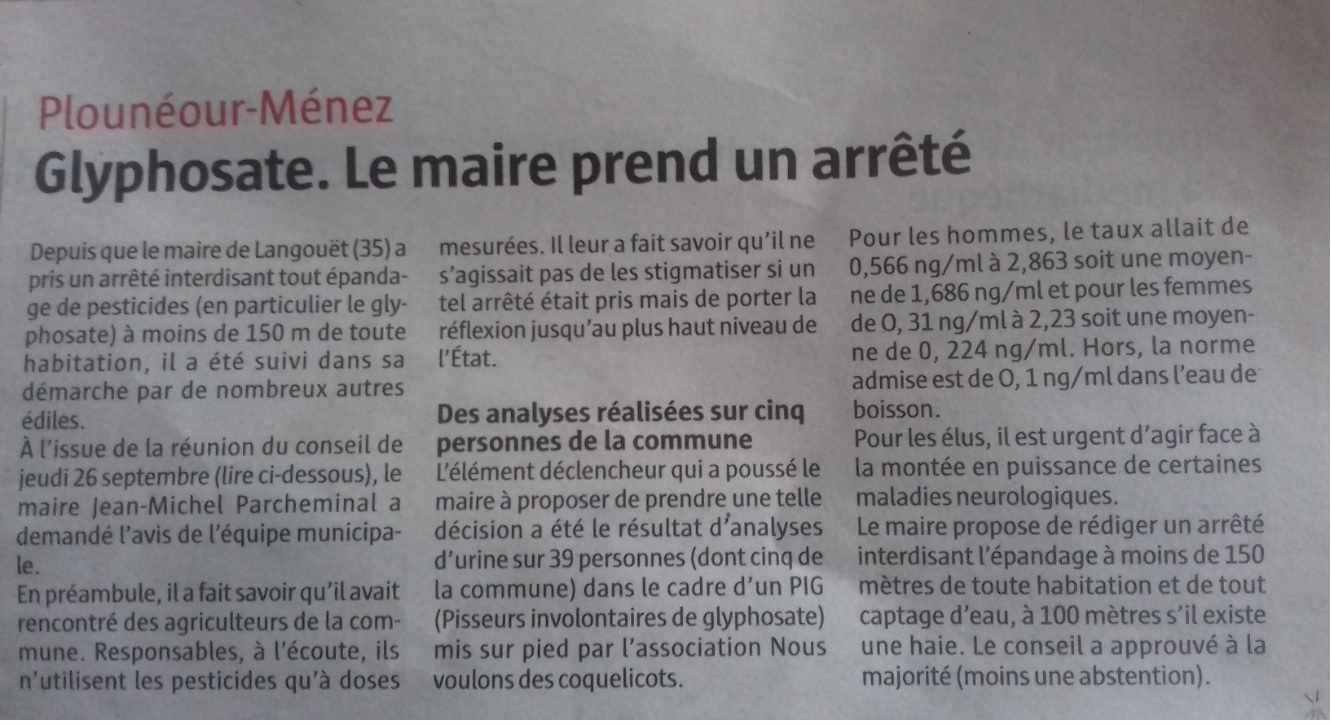 arrêté municipal Plouenour Menez