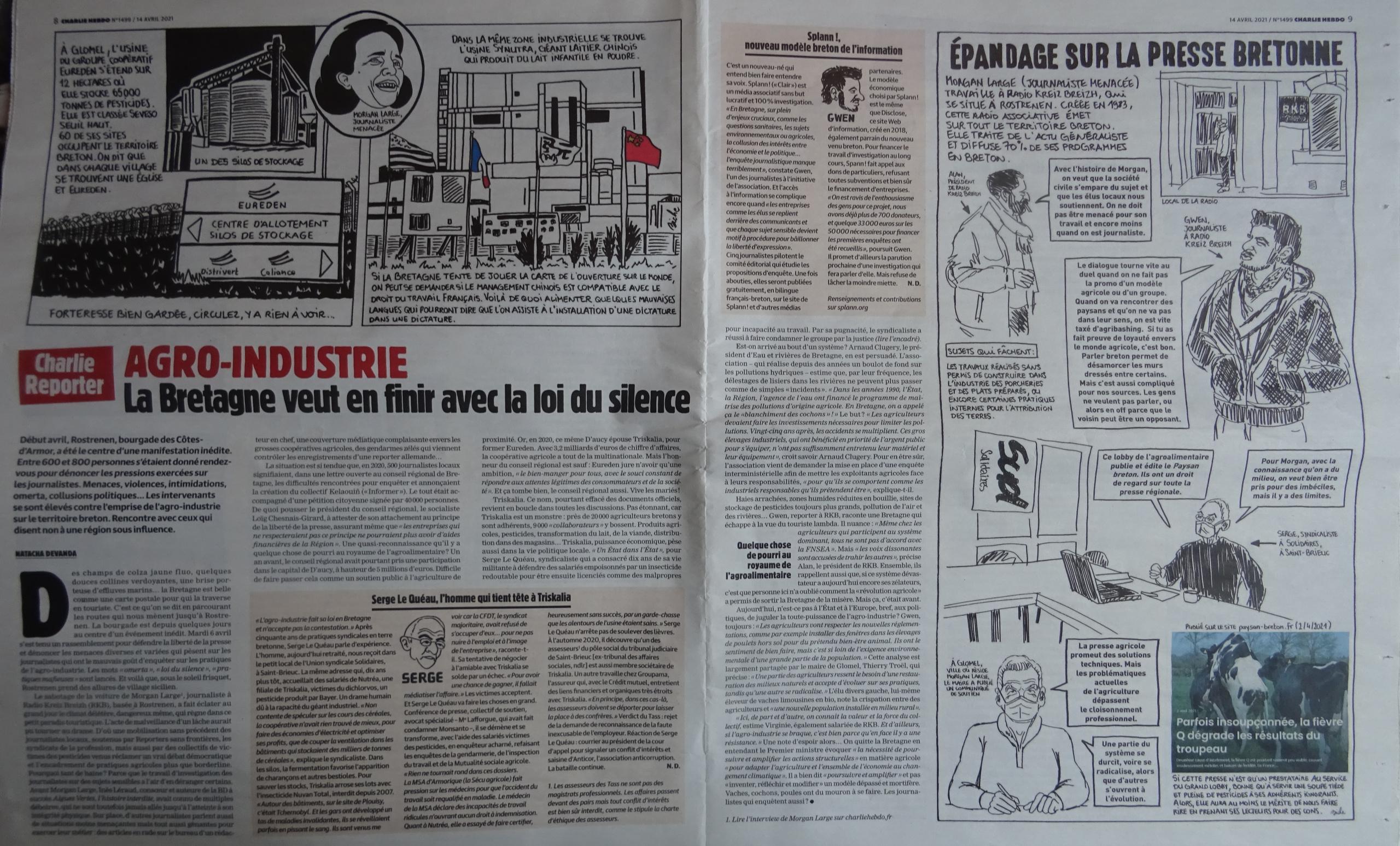 Charlie Hebdo 14 avril 2021